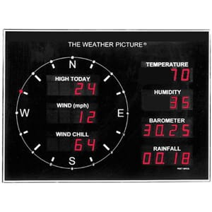 "Ultimeter ""The Weather Picture"" Børstet aluminium (WSF-65007"