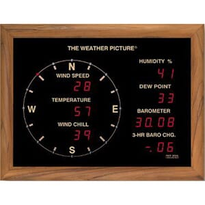 "Ultimeter ""The Weather Picture""  Eik ramme"